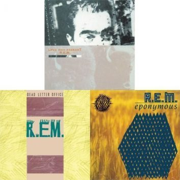REM Lifes Rich Pageant, Dead Letter Office, Eponymous album covers
