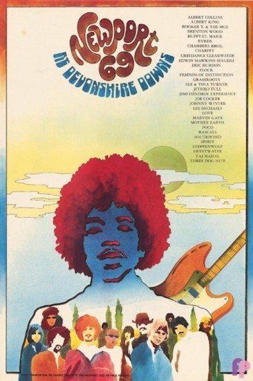 Jimi Hendrix Headlines Newport Pop Festival 1969