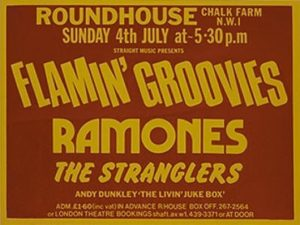 Ramones At The Roundhouse Gig Advert 1976 - 530