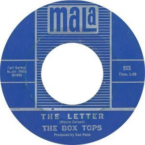 The Box Tops - The Letter Single Label - 300