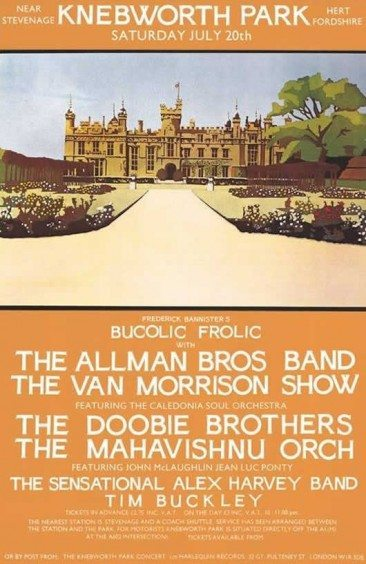 When Allman Brothers Band Headlined First Knebworth