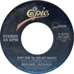 Michael Jackson - Don't Stop Till You Get Enough Artwork