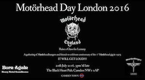Motorhead Day.London.2016