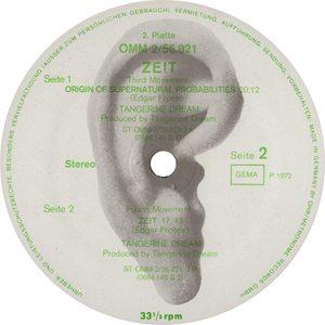 Tangerine Dream Zeit Record Label - 300