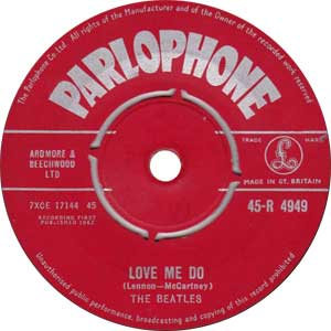 The Beatles - Love Me Do Artwork
