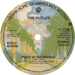 The Rutles Piggy In The Middle Single Label - 300