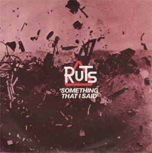 The Ruts Something That I Said Single Cover - 300