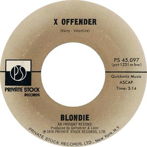 Blondie - X Offender Single Label - 300