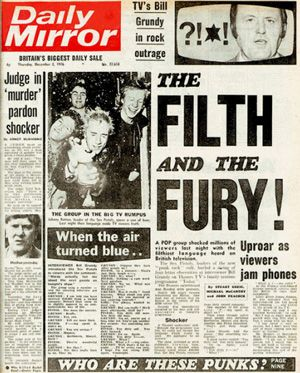 Daily Mirror Filth And The Fury Headline - 300