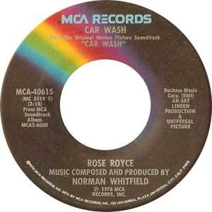 Rose Royce Car Wash Single Label
