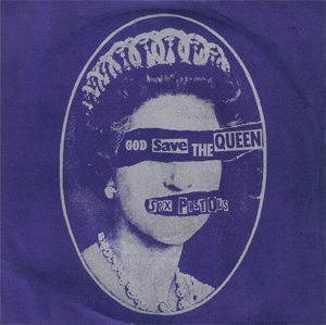 Sex Pistols God Save The Queen Single Cover - 300