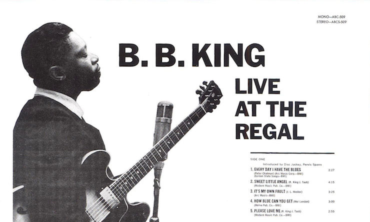 BB King Live At The Regal Back Cover