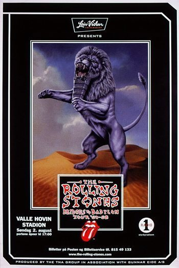 Bridges To Babylon Oslo tour poster