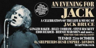 Exclusive: Baker, Hackett Among First Names For New Jack Bruce Tribute