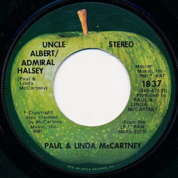 Paul McCartney Solo Uncle Albert/Admiral Halsey