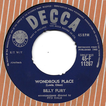 Wondrous Place Billy Fury