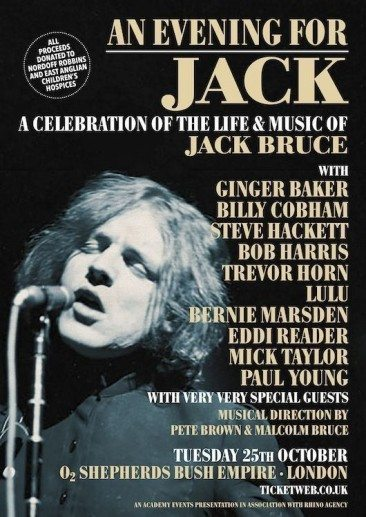 Mick Taylor, Terry Reid & Others Join Jack's Tribute