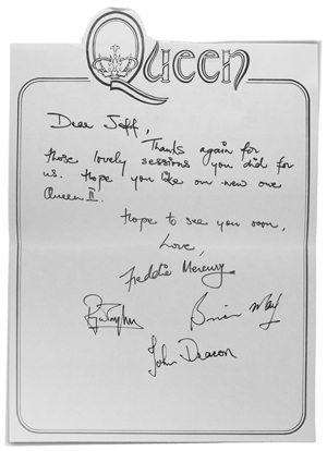 Queen On Air Letter To Jeff Griffin - 300