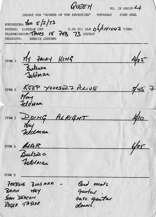Queen On Air Tracklist - 530