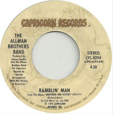 'Ramblin' Man' Runs Close To No. 1 For Allman Brothers