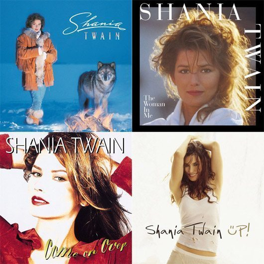 Shania Twain Album Covers Montage - 530