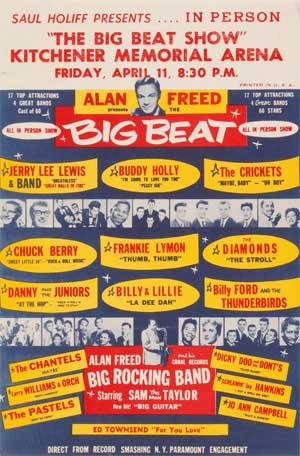Alan Freed Rock N Roll Poster