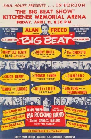 Alan Freed Rock N Roll Poster