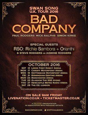 Bad Co UK tour