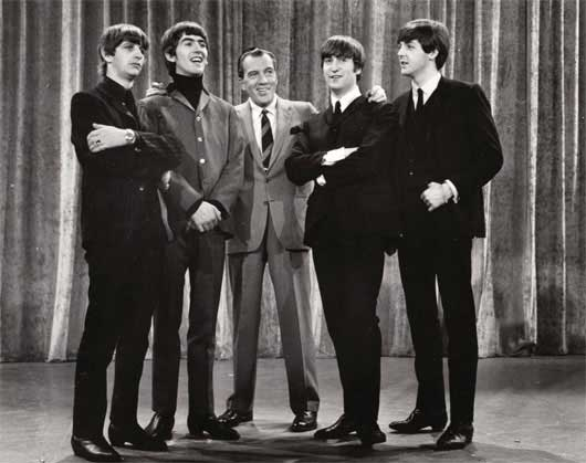 The Beatles Ed Sullivan Show Rock N Roll Image