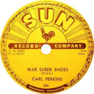 Carl Perkins Blue Suede Shoes Rock N Roll Image