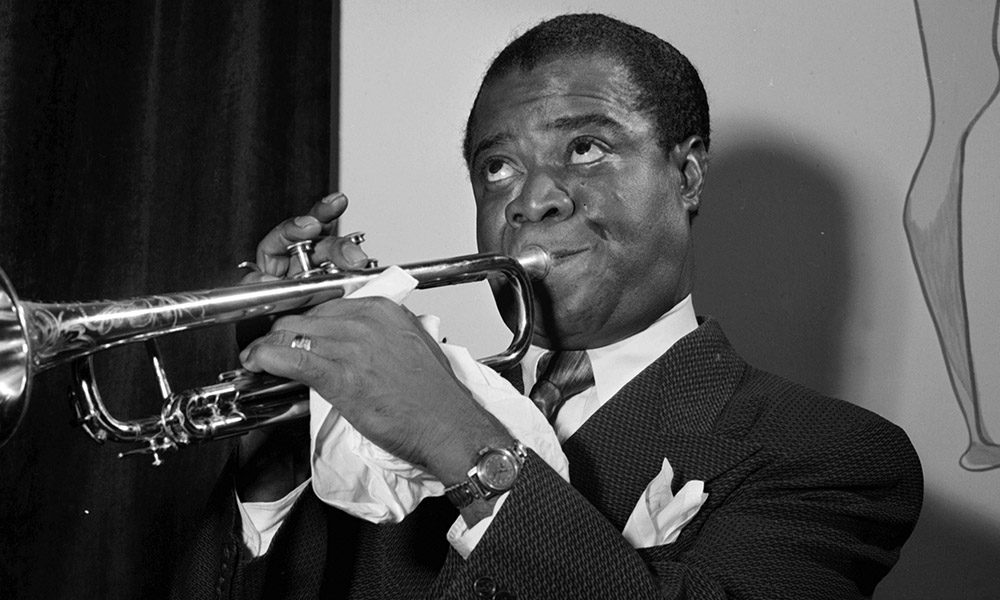 Portrait of Louis Armstrong, between 1938 and 1948.