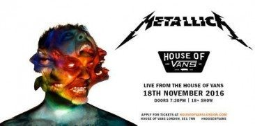 Stream Metallica's Exclusive House Of Vans Show
