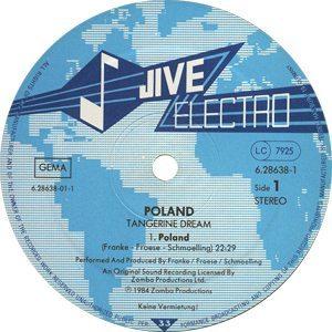 Tangerine Dream Poland A side label - 300