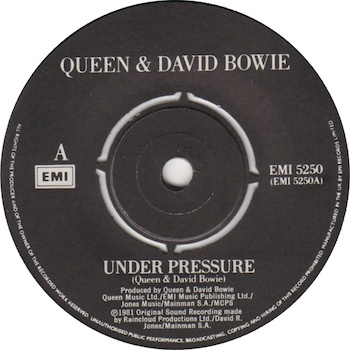 Queen David Bowie Under Pressure