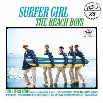 Beach Boys Surfer Girl Album Cover With Logo - 530 - RGB
