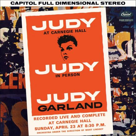 Judy Garland Live At Carnegie Hall album cover web optimised 820