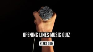 The uDiscover Opening Lines Music Quiz