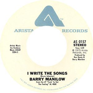 Barry Manilow I Write The Songs Record Label - 300