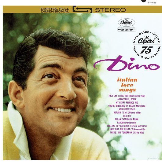Dean Martin Dino Italian Love Songs Album Cover With Logo - 530
