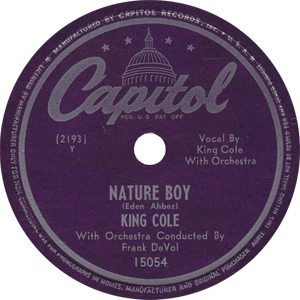 Nat King Cole Nature Boy Single Label - 300