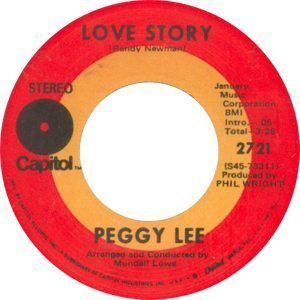 Peggy Lee Is Love Story Single Label - 300
