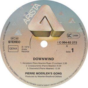 Pierre Moerlen's Gong Downwind Record Label - 300