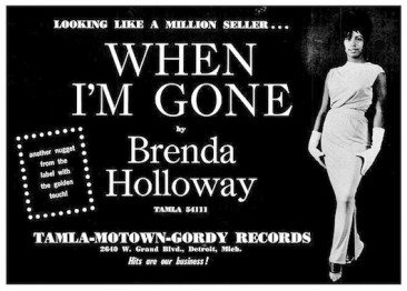 Brenda Holloway Plus Smokey Robinson Equals 'When I'm Gone'