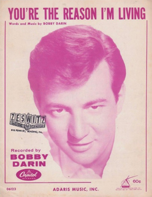 Bobby Darin You're The Reason I'm Living Sheet Music