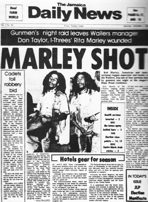 Daily Jamaica News Bob Marley Shot
