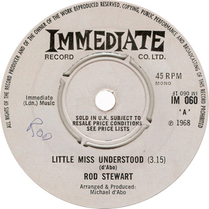 Rod Stewart Little Miss Understood Record Label