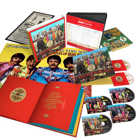 The Beatles' Six-Disc Super Deluxe Anniversary Reissue Of 'Sgt Pepper's Lonely Hearts Club Band' Out Now!