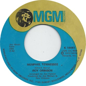 Roy Orbison Memphis Tennessee