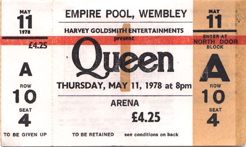 Резултат с изображение за ticket for queen 70s and 80s