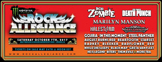 Rob Zombie Rock Allegiance Festival New Jersey